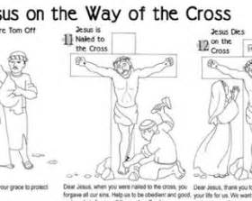 stations of the cross coloring pages printable stations of the cross for children