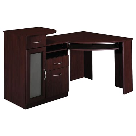Corner Desk For Computer Corner Computer Desk For Small Space With Cabinet Decofurnish