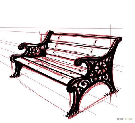 how to draw a park bench how to draw a park bench perspective unit pinterest