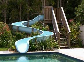 how to build a water slide in your backyard swimming pool water slide modular sections diy