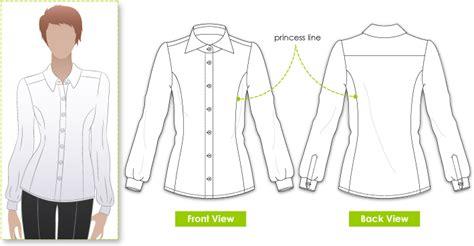 pattern cutting princess line stylearc sara blouse