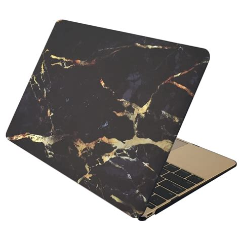 Macbook Pro Retina 13 Black Yellow Marble marble patterns apple laptop water decals pc protective