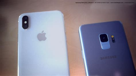 galaxy s9 vs iphone x see samsung s new design next to apple s iphone bgr