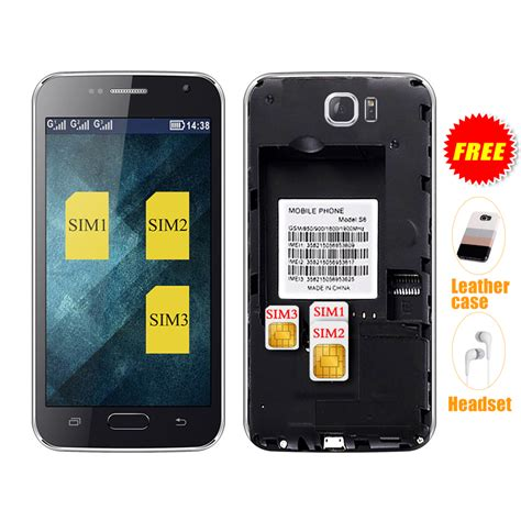 3 mobile phones servo s6 4 6 inch three sim cards mobile phone 3 sim cards