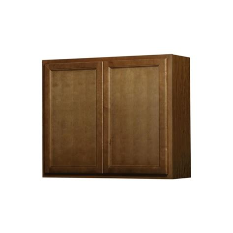 kitchen cabinet doors lowes 12 in denver hickory double door kitchen wall cabinet at
