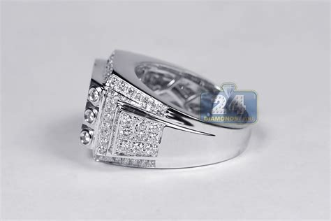 mens cut ring classic 14k white gold 2 51 ct