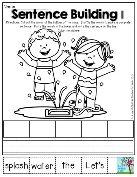 Kindergarten Sentence Building Worksheets by The World S Catalog Of Ideas