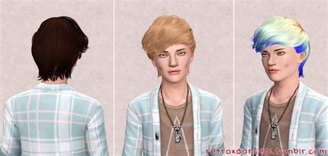 Sims 3 Custom Content Male Hair | my sims 3 blog skysims hair 051 retextures by retroxdance