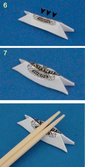 Chopstick Wrapper Origami - chopstick wrapper stand