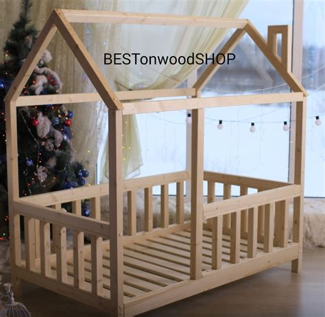 cm house bed tent bed wooden house wood