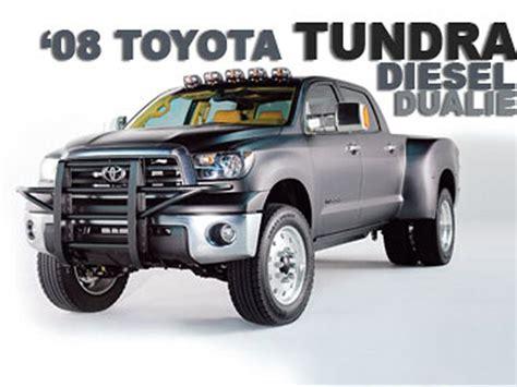 Toyota Truck With Diesel Engine 2008 Toyota Tundra Diesel Dualie 1 Ton Diesel Truck