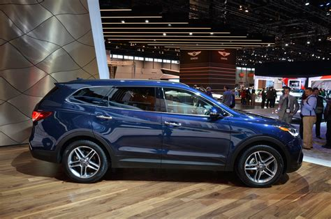 blue santa fe hyundai 2017 hyundai santa fe santa fe sport review look