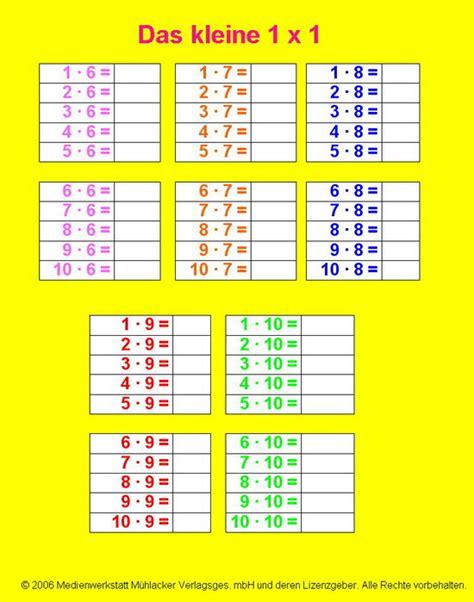 1 mal 1 tabelle einmaleins tabelle zum ausdrucken