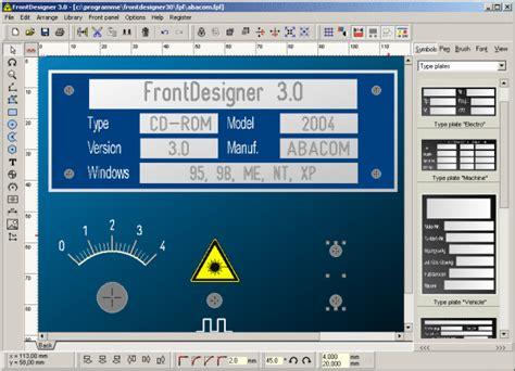front designer panel design software 47 95 saelig