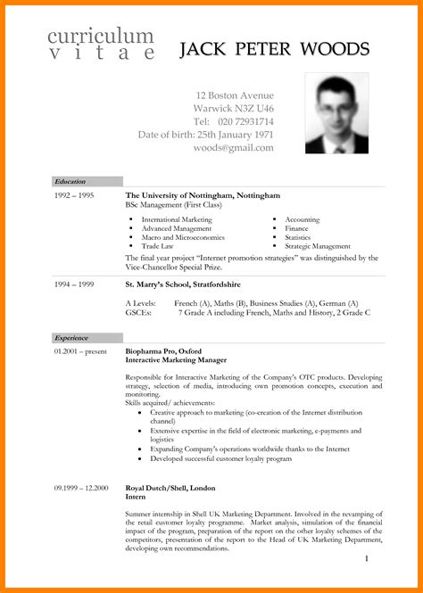 8 international cv format emt resume