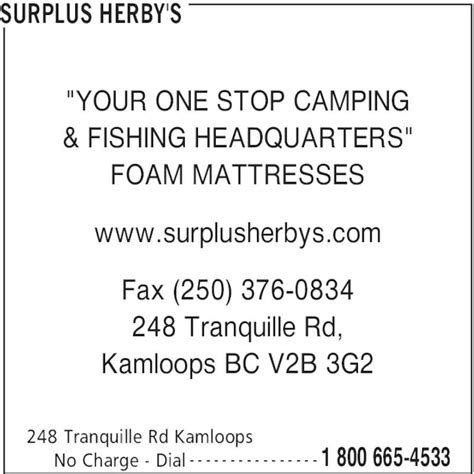 army surplus surrey bc surplus herby s kamloops bc 248 tranquille rd canpages