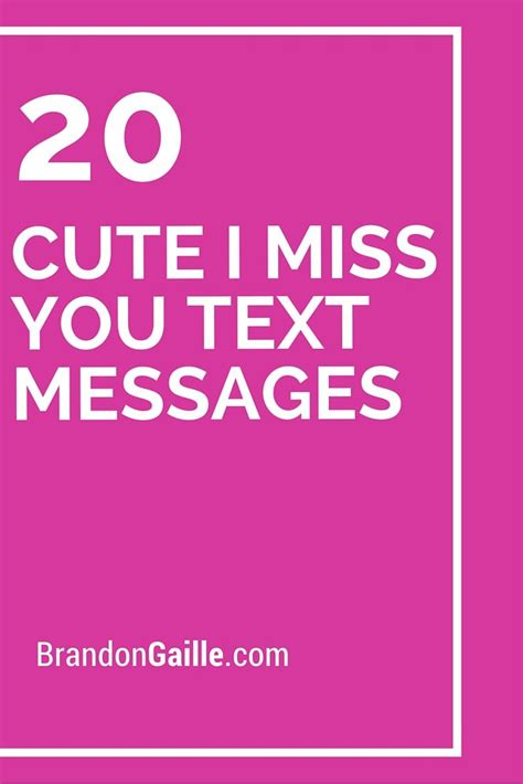 20 i miss you text messages texts messages and