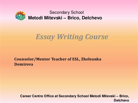Essay Writing Course by Essay Writing Course Vi
