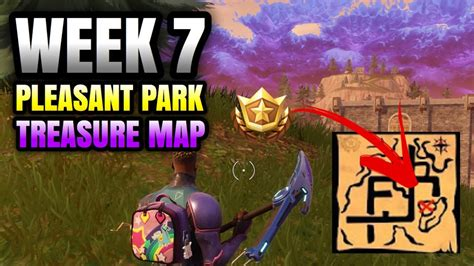 fortnite week  pleasant park treasure map  battle