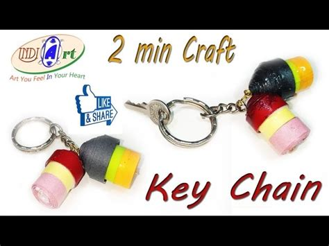 How To Make Paper Key - how to make a paper house key chain easy tutorials indi