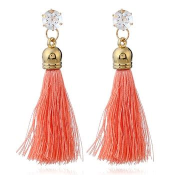 Anting Wanita Fashion Korea Handmade Woven Silk Earrings Jul291 model mode zircon stud earrings wanita desain terbaru guangdong lx 029 boho rumbai anting