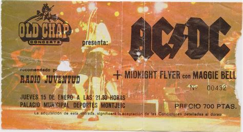 entrada ac dc rock and roll memories ac dc midnight flyer con maggie