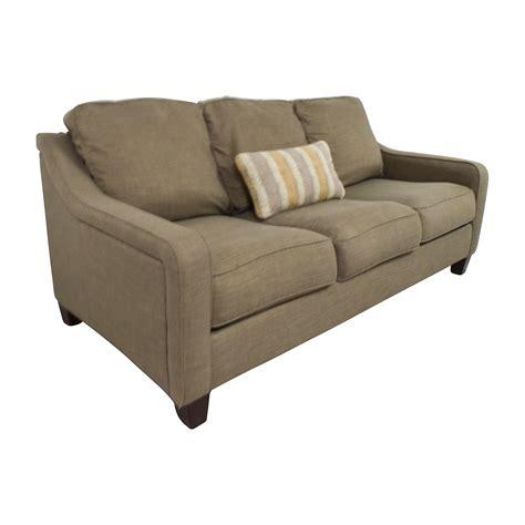 55 Off Jennifer Furniture Jennifer Furniture Brown Sofa With Throw Pillows