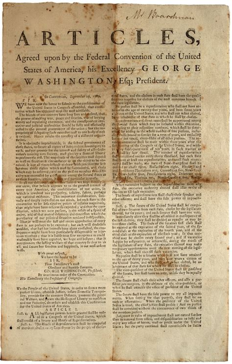 Constitution Printed For Dissemination In New York State With George | new york ratifies constitution on this day july 26