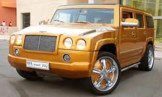gold bentley hummer h2 | car tuning