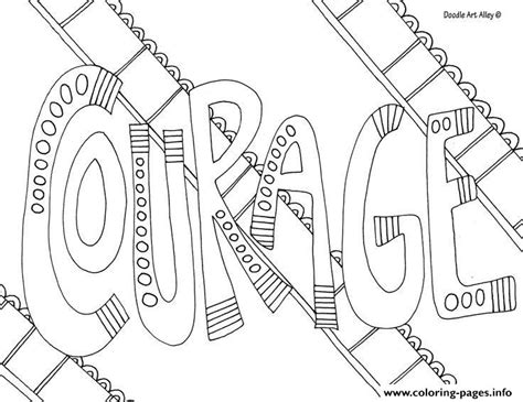 printable coloring pages words word courage coloring pages printable