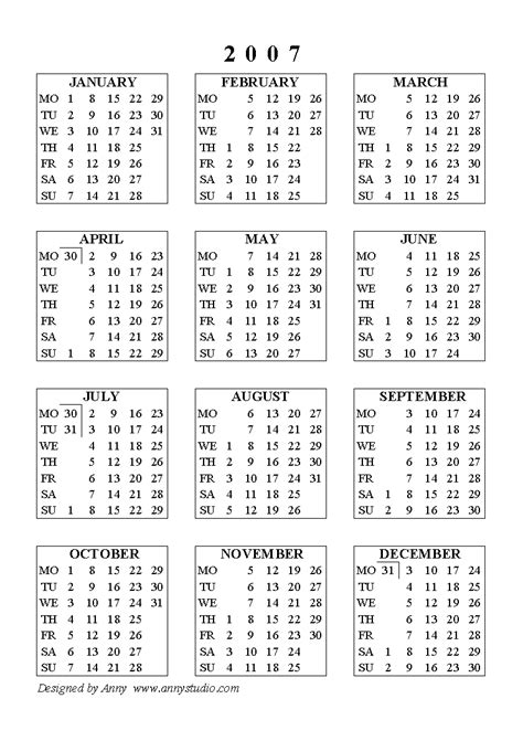 Calendar For 2007 Printable 2007 Academic Calendar Trials Ireland