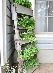 diy herb planter garden styling with pallet vertical planter wooden