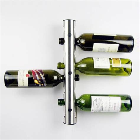 Metal Wall Wine Rack Bottle Holder by Stainless Steel Metal Wine Rack Holder 8 Optional Home Bar