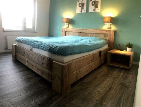 steigerhout bed 2 persoons tweepersoons 2 persoons bed gemaakt van steigerhout