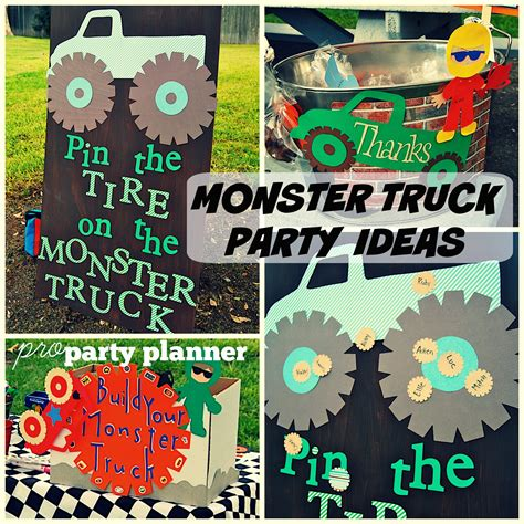 monster truck jam party supplies pro party planner monster truck monster jam birthday party
