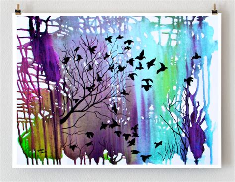 modern craft projects giclee print tree wall d 233 cor landscape wall by