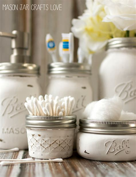Clear Kitchen Canisters Mason Jar Bathroom Storage Amp Accessories Mason Jar