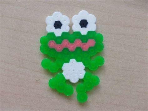 hama beads frog  pegboard bead charm pegboard