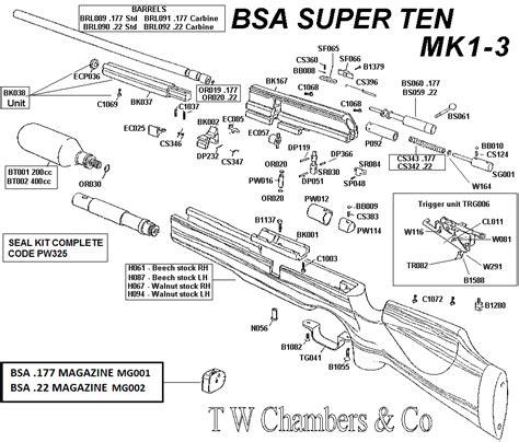Seal Sharp Barrel superten bsa airgun spares chambers gunmakers airgun