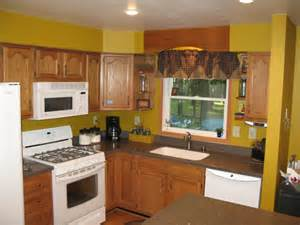 Kitchen Paint Color Ideas With Oak Cabinets Yellow Kitchen Walls Viewing Gallery