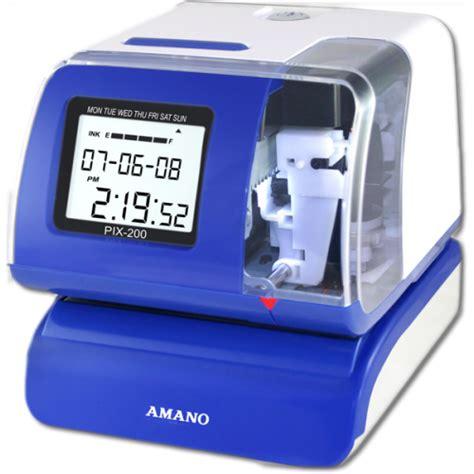 amano pix 200 time clock