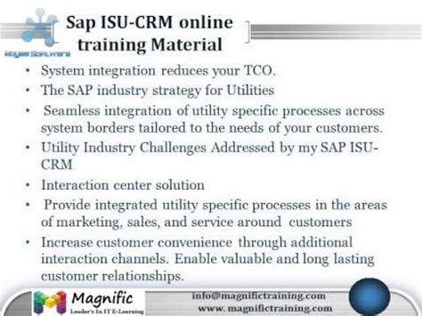 tutorial sap isu sap isu crm online training youtube