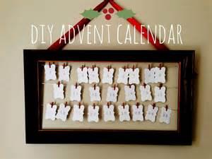 Home made modern diy advent calendar