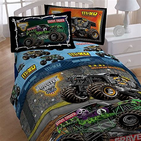 monster truck bed set 4pc monster jam twin bedding set grave digger monster