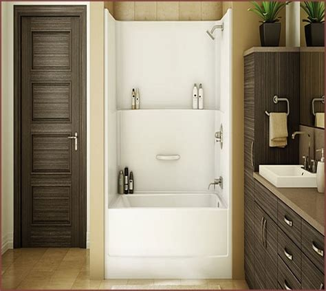 bathtub and shower units one tub shower combo home design ideas