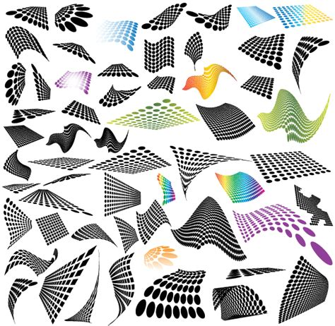 home design vector free download 50 abstract halftone design elements free vector download