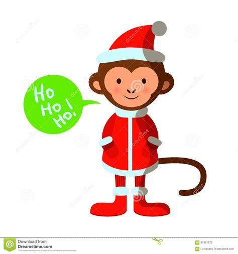 monkey santa monkey in santa costume merry happy new
