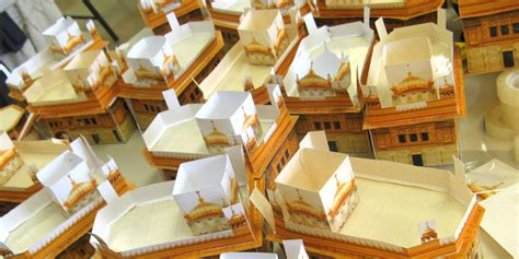 How To Make A Temple Out Of Paper - papercraft golden temple taran3d