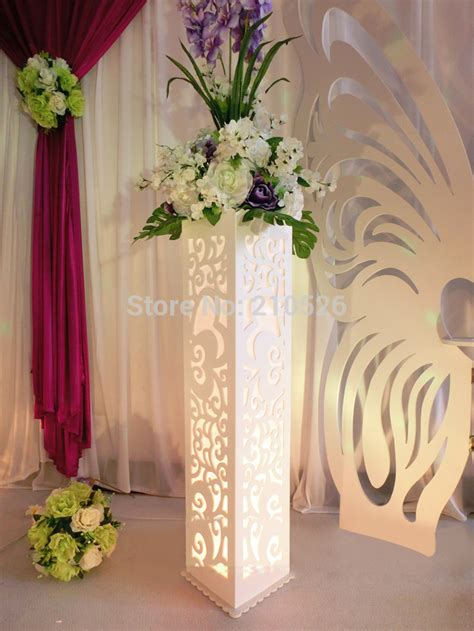 Wedding Aisle Flower Stands by Popular Decorative Wedding Pillars Stands Flowers Buy