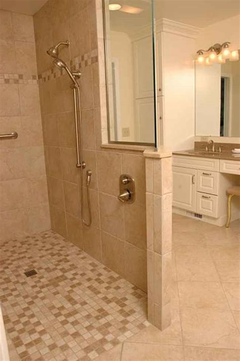 Tile Shower Without Door Positive Facts About Walk In Showers Without Door Homesfeed